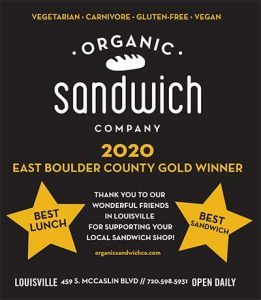 Ad from BoCo Gold Featuring Organic Sandwich Company